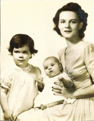 Shirley with Diana and Barbara 1945