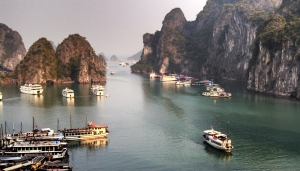 10. Ha Long Bay anchorage