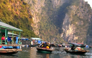 11. basket boats in Halong Bay