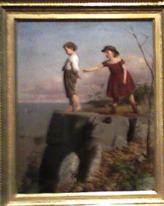 8. Guy-Unconcsious of Danger-at the Barnes