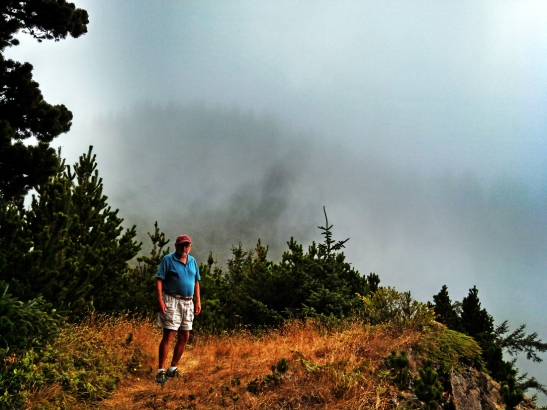 above the fog at Thomas Pt 08-29-14
