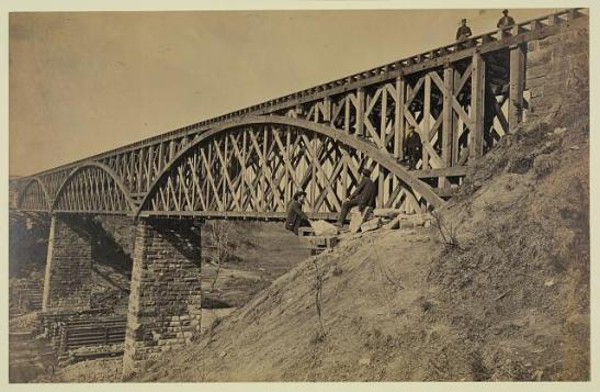 Potomac Creek Bridge, Aquia Creek & Fredericksburg Railroad, April 18, 1863