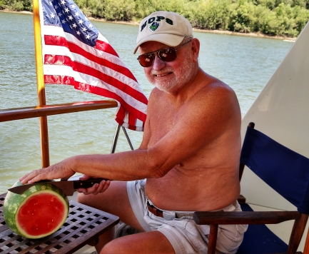 water, watermelon, flag, sunshine-the perfect 4th