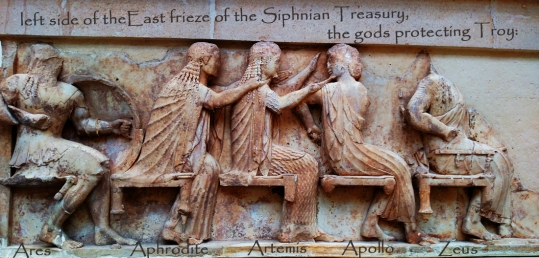 delphi-left side of the east frieze-Siphnian Treasury