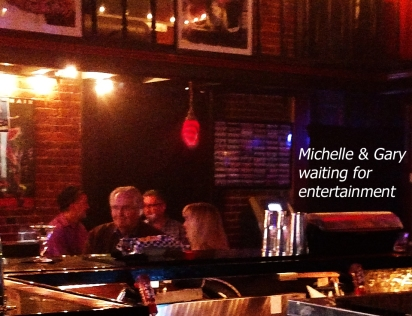13.  Michelle & Gary Pope at karaoke bar
