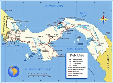 panama-political-map