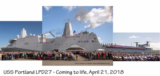 USS Portland coming to life