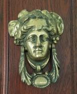 lady head door knocker-$125