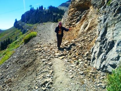 Aug 29 - down rocky terrain
